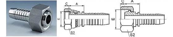 Гидравлические фитинги DK 0° с накидной гайкой в прямом исполнении